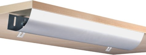 Eisnhauer Kabelwanne abklappbar, 760 mm lang, für Schreibtische im Büro / Home-Office gegen den Kabelsalat am Arbeitsplatz (Home-office Für Schreibtische Lange)