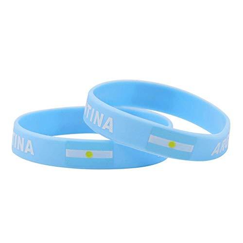 Lomire Silikon-Armbänder Argentinien-Flagggummiarmbänder für Ereignisse scherzt Mann FIFA-Weltmeisterschaft (Ereignisse Für Armbänder)