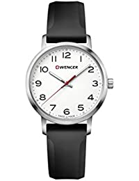 Wenger 01.1621.103 Women's Avenue White Dial Black Silicone Strap Watch
