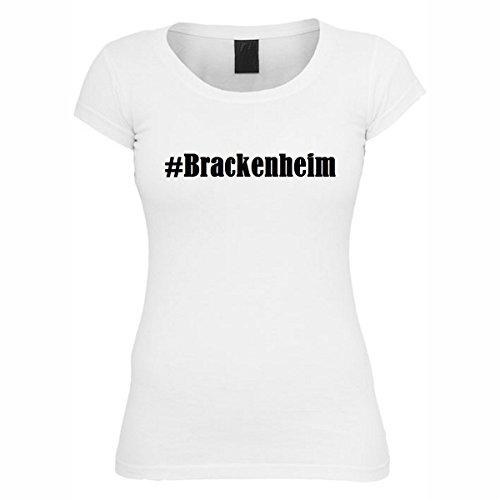 T-Shirt #Brackenheim Hashtag Raute für Damen Herren und Kinder ... in den Farben Schwarz und Weiss Weiß
