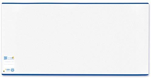 HERMA 7270 Buchumschlag HERMÄX Classic (Größe 27 x 54 cm, transparent) Buchhülle aus robuster Folie mit Namensetikett, 1 Buchschoner für Schulbücher