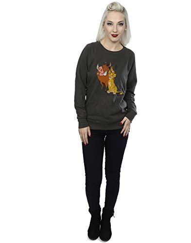 Disney Femme Classic Simba, Timon and Pumbaa Sweat-Shirt Graphite Lumière