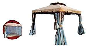 Gazebo With Curtains & Mosquito Nets 3 X 3M