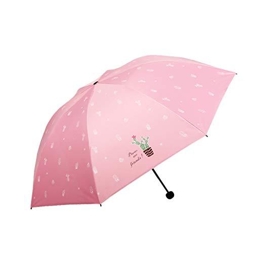 LGQ-LIFE Reiseschirm - Leichte Tragbare Mini-Kompaktschirme-Sonnenschutz UV-Schirme Sonnenschirm Tragbar (Farbe : E)