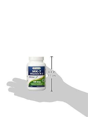 Best Naturals MK-7 Vitamin K2 100 mcg 120 Vcaps by Best Naturals