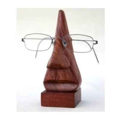 Regalo para la Navidad o de cumpleaños de sus seres queridos Mano Clásico tallada Rosewood nariz en forma de la lente de portagafas