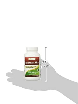 Best Naturals, Red Yeast Rice, 600 mg capsules, 120 Capsules, 2 capsules per serving/1200mg per serving from Best Naturals