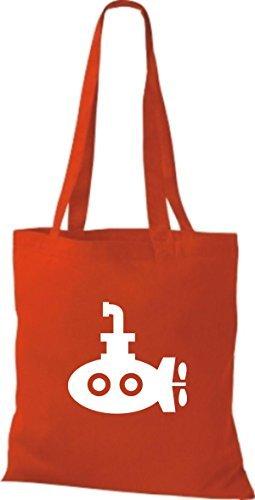 JUTA Borsa di stoffa U-Boot, barca per immersioni, CAPITANO Rosso