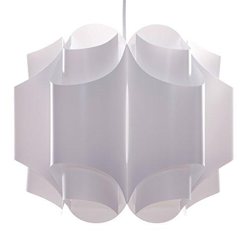 DESIGN DELIGHTS BLUMIGE Fiore Suspension en Plastique Blanc Ø 39 cm
