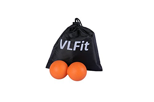VLFit-Peanut-Massage-Ball-Double-Lacrosse-Ball-Ideally-Suited-for-Myofascial-Release-Trigger-Point-Therapy-and-Deep-Tissue-Massage-Best-Mobility-Ball-for-Crossfit-and-Yoga-with-Bag-ORANGE