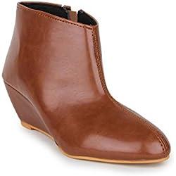 Beautiful Tan color Synthetic women's boots from Sheneya::CHIK_TN_TAN_36