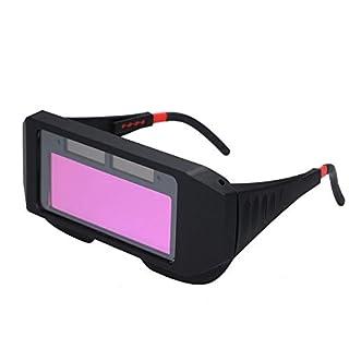 Docooler Schweißbrillen Solarbetriebene Selbstverdunkelung Schweißmaske Photoelektrischer Helm Praktische Brille zum Gasschweißen, Stahlschweißen, Schneiden, Schweißen