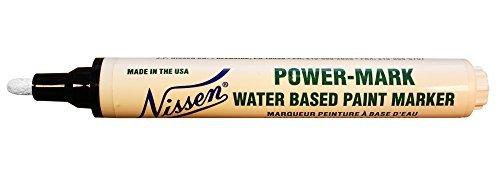Nissen 00900 Power Mark Marker, White (Pack of 12) by Nissen