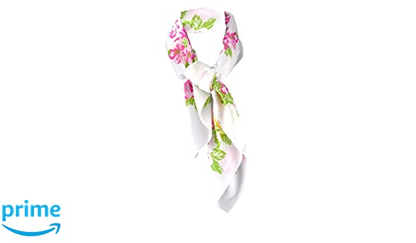 Gr 90 x 90 cm Halstuch Chiffon in rosa magenta grau braun gelb grau gemustert