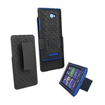 M New HTC Windows Phone 8 X Shell Combo W/Holster & Ständer Nicht Retail Paket ()