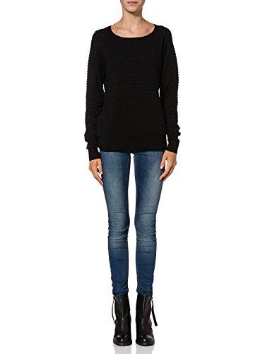 VERO MODA Damen Pullover FOREVER LS O-NECK BLOUSE NOOS Schwarz (Black C-N10)