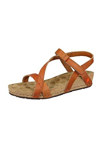 Art sandalo Pompei Cuero Brown Strappy Sandal - 0736, ART Schuhe Damen:38