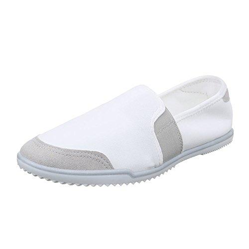 Damen Schuhe, 486-Y, HALBSCHUHE SLIPPER Weiß