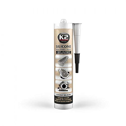 K2 Hochtemperatur Silikon, Dichtmasse, Dichtsilikon, hochtemperaturbeständig bis +350°C, schwarz, 300g - Ventildeckel 350