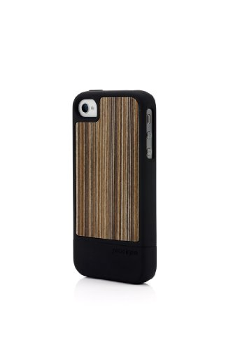 Prodigee :  wood fusion noir/rayures pour iPhone 4