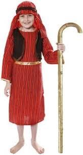 Kostüm König In Gelb Der (KRIPPENSPIELE KOSTÜME FÜR DEN SCHÄFER-2- IN DER GRÖSSE L FÜR KINDER IM ALTER VON 10-12)