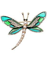 9e0978a6b3a3 Gysad Broche mujer Forma de libélula Broches de bisuteria baratos  Decoración de diamantes de imitación Broches