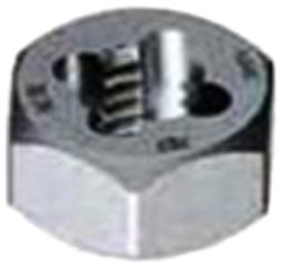 Gyros 92-90810 Metric Carbon Steel Hex Rethreading Die, 8mm x 1.00 Pitch by Gyros -