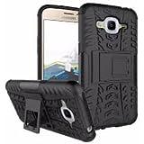 Samsung Galaxy J2 (2016) Hybrid Military Grade Armor Kick Stand Back Cover Case (Samsung Galaxy J2 (2016) (Black))