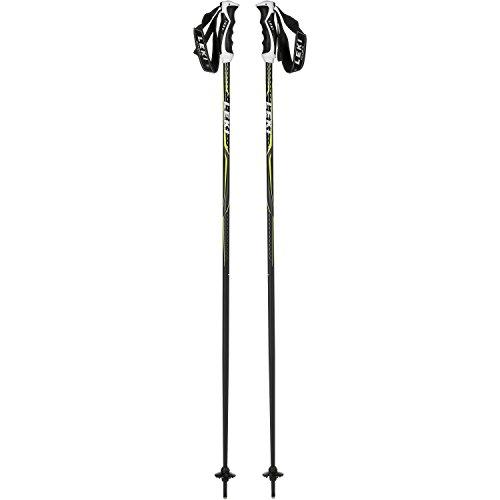 LEKI Alpex Ultimate Skistöcke, Schwarz/Anthrazit/Weiß/Neongelb, 130 cm