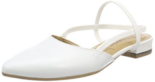 Tamaris Damen 29408 Slingback Sandalen, Weiß (White Leather), 37 EU -