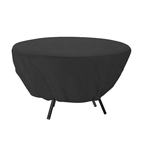 YXX- Couvertures de meubles Couvertures de table et de chaise rondes pour meubles de jardin de patio Ourdoor (paquet de 5), imperméables/antipoussière/coupe-vent