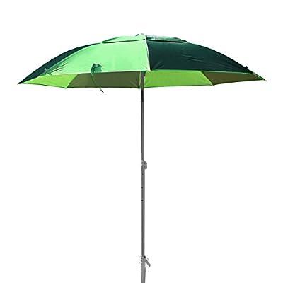 XXL Sonnenschirm Strandschirm 190 cm Durchmesser Sonnenschirmhalter Kohlefaser Pongee Aluminium eingebauter Windfang Schraubdorn für Strand Erde Rasen UV Schutz 30 Grün von KARRY auf Gartenmöbel von Du und Dein Garten