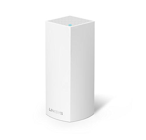 Linksys Velop Tri Band AC2200 WLAN Mesh System (Funktioniert mit Amazon Alexa, 1-Pack, bis 180m2, Einfache Installation, maximierte Reichweite und Geschwindigkeit) Weiß