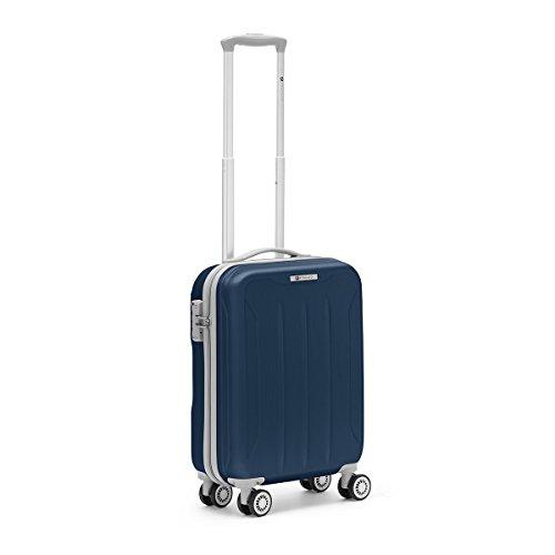 R roncato, flight - trolley cabina in abs 100%, blu navy