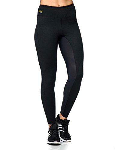 Active Shapers Full Länge Damen Body Shaping Hot Leggings Medium schwarz (Athletic Capri Wear)