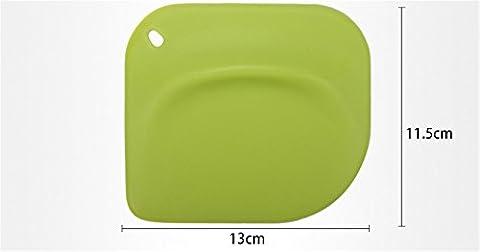 Yinew Haushalt Kunststoffgriff Silikon-Spachtel Creme Scraper, Grün (Grüne Scraper)