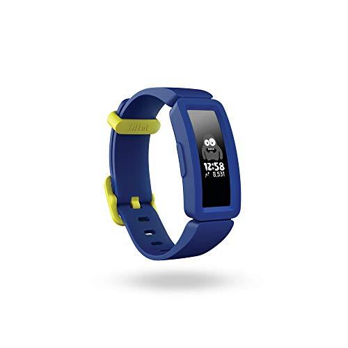 Fitbit Ace 2-Monitores, Pulsera de Actividad para niños con Divertidos incentivos, 4 días de batería y Sumergible hasta 50 Metros, Juventud Unisex, Night Sky/Neon Yellow, Talla única, Amarillo neón