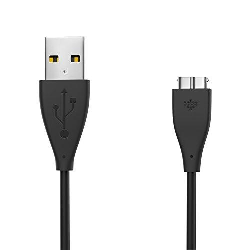 MoKo Fitbit Flex Ladekabel - Premium Ersatz USB-Ladekabel Ersatz-Ladegerät Ladestation Charging Dock Adapter USB Ladekabel für Fitbit Aktivitätstracker Charge HR, Schwarz