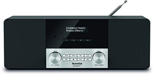 TechniSat Digitradio 4 Stereo DAB Radio (DAB+, UKW, Bluetooth, Kopfhöreranschluss, AUX-Eingang, Radiowecker, OLED Display, 20 Watt RMS, Elac Lautsprecher) schwarz