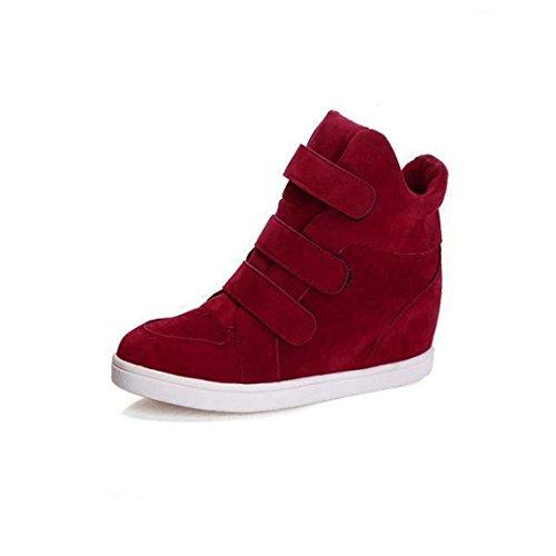Sneakers-Damen-Winter-Btruely-Mdchen-Versteckte-Heel-Flock-Fashion-Wedge-Freizeitschuhe