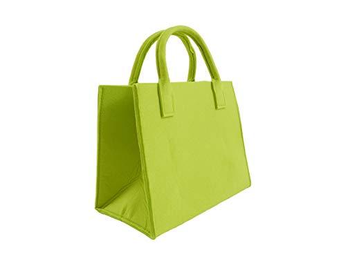 CB Home & Style Filztasche Einkaufstasche Tasche Shopper ca. 35 x 20 x 28 cm Einkaufskorb Kaminholztasche (Grün)