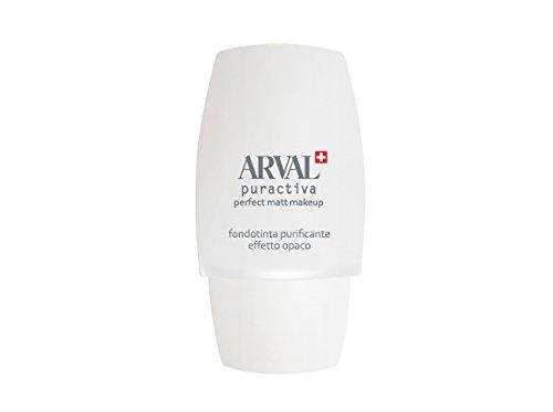 Arval Puractiva Fondotinta Purificante Effetto Opaco, Beige Naturale No 01 - Flacone 30 ml