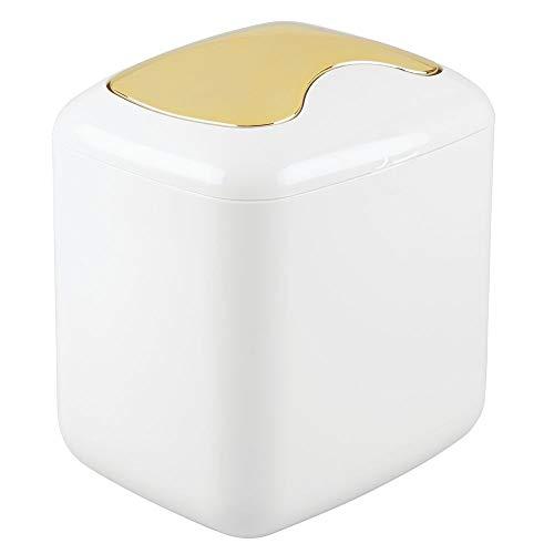 MDesign Papelera tapa basculante sobremesa – Cubo