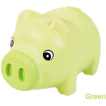 Plastique Green CHENFUI Dessin anim/é Cochon Forme Tirelire pi/èce de Monnaie de Stockage /économique Tirelire Enfants Utilisation 19x10x11cm