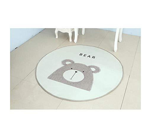 FSDYVGD Kinderzimmer Fox Pad Runde Baby Spiel Pad Patchwork Picknick Decke Teppich Familie Kinderzimmer