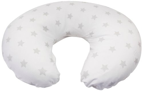 PHP Gift and Baby Widgey Nursing Pillow with Stars (White/ Grey)
