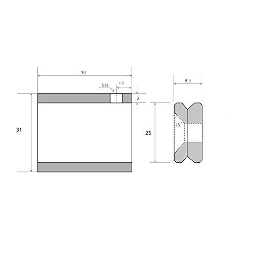 SO-TECH® Edelstahl Schrankstange 1160 mm RUND Ø 25 mm mit 2 Stück Schrankrohrhalter TUBE rostfrei / Schrankrohr / Kleiderstange / Möbelstange / Design trifft auf Funktion - 4