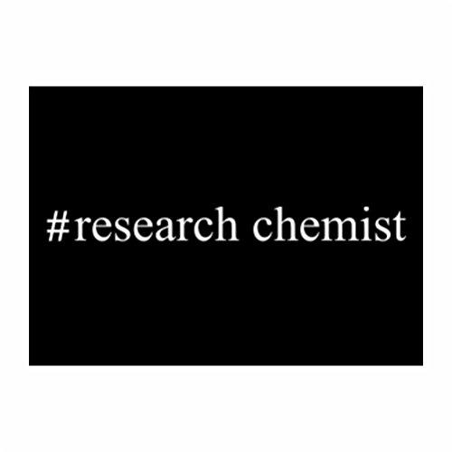 Teeburon #Research Chemist Hashtag Sticker Pacchetto di 4