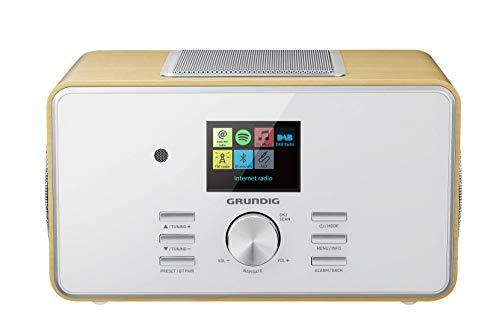 """Grundig DTR 6000 2.1 BT DAB+ WEB \""""All-in-one\""""-Internetradio mit Bluetooth, Multiroom und Empfang Eiche"""