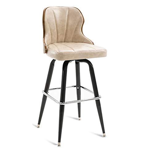 Bar-Stool, High Stool/Kitchen Chairman/Breakfast Chair-, Industrial Style mit Footrest/Metal Frame, für Pub/Counter/Cafe/Household,ivorywhite - Modernen Speisesaal Möbel